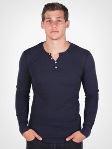American Apparel Henley Thermal T457 Dexter Kills Showtime Long Sleeve T Shirt
