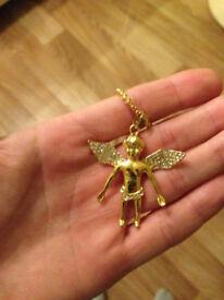 18K Angel Boy Necklace! + Pendent (Sale)