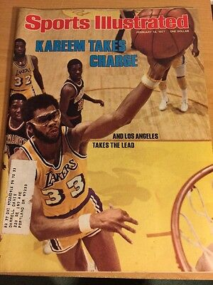 Kareem Abdul-Jabbar Sports Illustrated February 14,1977, Sugar Ray Leonard Debut