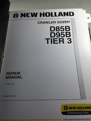 New Holland D85b Dd95b Tier 3 Crawler Dozer Repair Manual