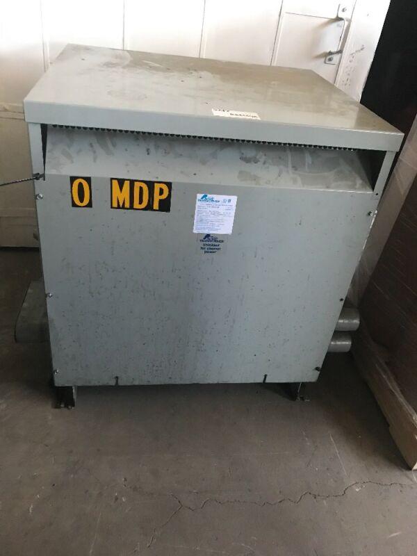 Used Acme 112.5 KVA 480-240/120(Delta/Delta) 3 Phase Transformer TP1 Energy Eff.