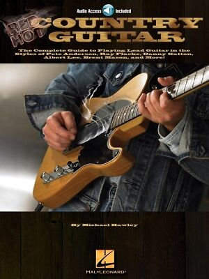 Guitar Educational Book and Audio NEW 000695831 Red Hot Country Guitar