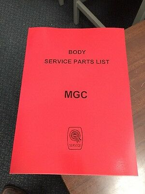 MG C MGC Parts Manual Body Catalogue Book Service Workshop