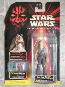 Star Wars Jar Jar Binks COMMTECH Chip Action Figure - **SOLD**