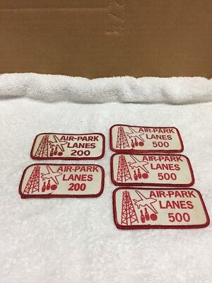 Group Of Five Air-Park Lanes Bowling Patches
