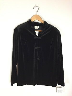 Vintage Clio Velvet Asian Inspired Jacket, Size PS, NWT, NOS