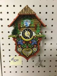 Genuine Black Forest Miniature Clocks #520 Cuckoo Clock Theme