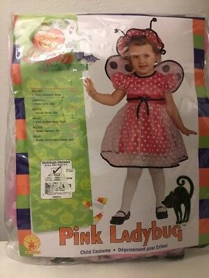 Pink Ladybug Costume (Pink Ladybug Butterfly Wings Size 2-4 Girl's)