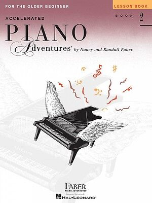 Beginner Piano Lesson Books - Accelerated Piano Adventures for the Older Beginner Lesson Book 2 NEW 000420310