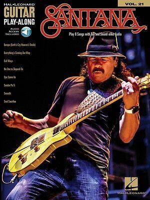 Santana Sheet Music Guitar Play-Along Book and Audio NEW 000174525