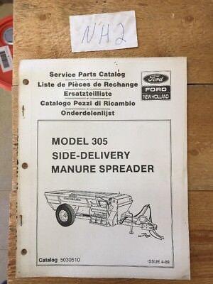 New Holland 305 Slurry Manure Spreader Parts Catalog Book Manual 489