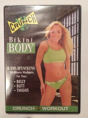Crunch Bikini Body DVD - Brand New & Sealed - Belly, Butt And Thighs -Anchor Bay