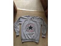 Medium size genuine grey converse jumper