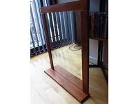 (reserved until 22/8 - 5pm) Hallway mirror with shelf