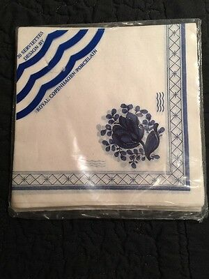 Royal Copenhagen Blue Flowers Fluted Paper Napkins Package of 20 NIP