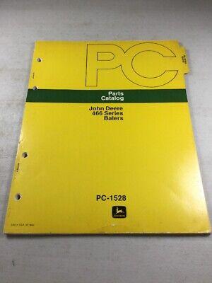 John Deere 466 Series Balers Parts Catalog Manual