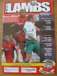 20-08-2005-Tamworth-v-Dagenham-And-Redbridge-Item-in-very-good-condition-no-o