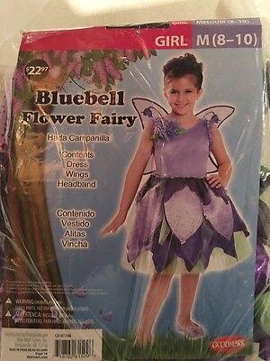 Halloween Costume Girls Bluebell Fairy Medium 8-10