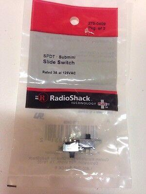 SPDT • Submini Slide Switch #275-0409 By RadioShack