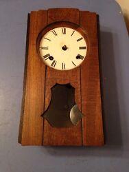 Antique Asian Import Box Clock Project Art Deco Case German Copy