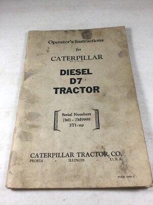 Caterpillar D7 Tractor Operators Manual