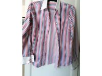 Ladies Long Sleeve Shirt - Candy Stripe - Marks & Spencer - Size 18