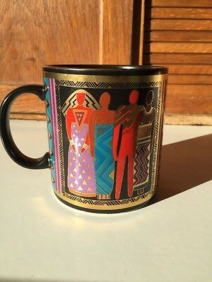 "Laurel Burch ""TRIBAL SPIRIT"" From 1988 Japan Coffee Cup Mug EXC!"