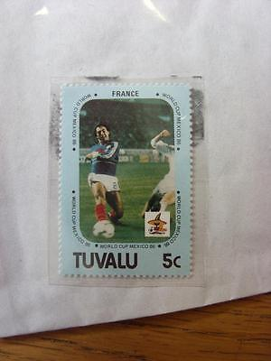 1986 World Cup Stamp: Tuvalu - France Player