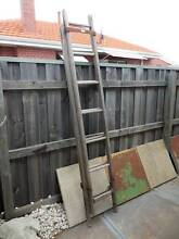 Rustic Vintage Wooden Extendable Ladder Bayswater Bayswater Area Preview