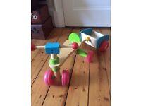 ELC Wooden Trike Bike & Trailer