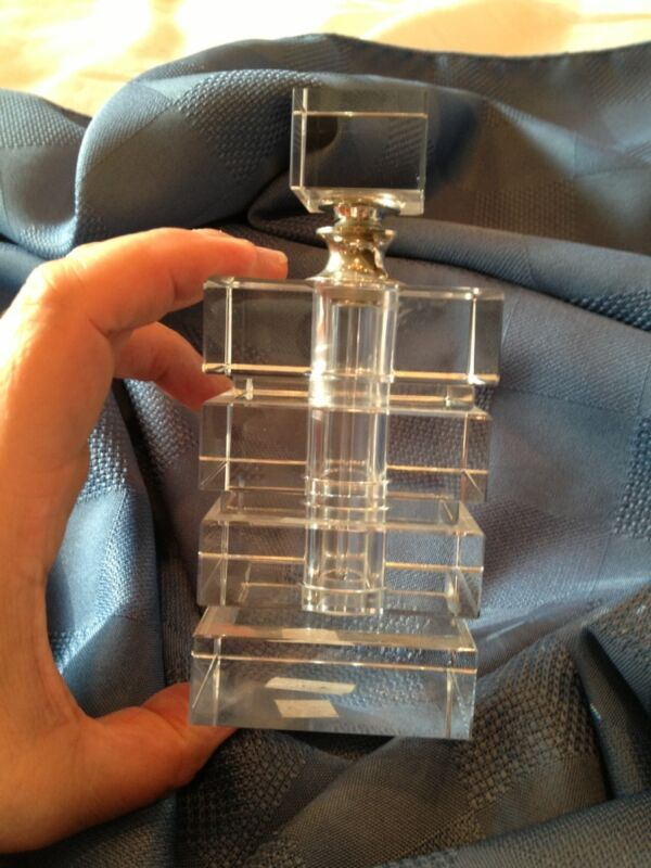 Vintage Geometric Bold Form Perfume Bottle