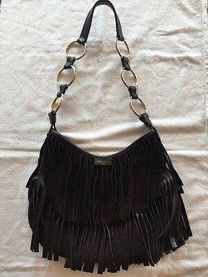 Ysl Yves Saint Laurent Brown Suede Fringe 'La Boheme' Handbag  Photo