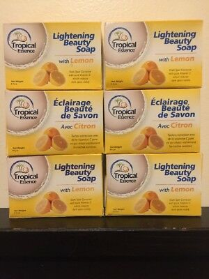 - 6 X Tropical Essence Lightening Beauty Soap with LEMON ❤️❤️LOT OF 6 SOAPS❤️