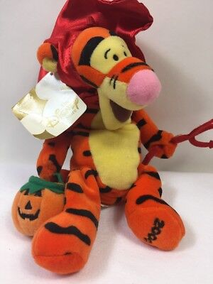 Disney Store Exclusive Devil Tigger Halloween Plush Bean Bag Toy Winnie the Pooh