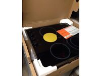 Brand new HOTPOINT CRM641DX Ceramic Hob - Black
