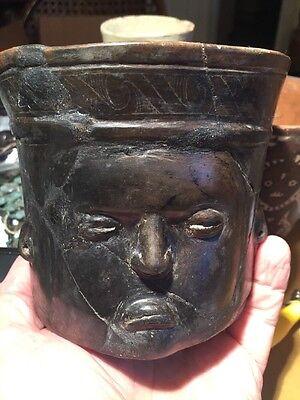 President Trump's Face On A 1600 Year Old Maya Pre-Columbian Mayan Guatemala Pot