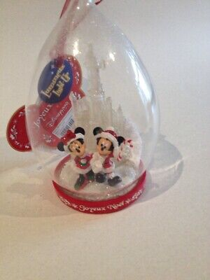 Disney Land Paris Mickey & Minnie Light Up Castle Xmas Tree Bauble Ornament ()