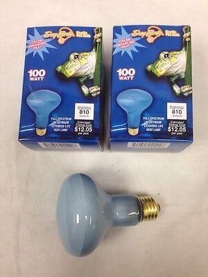 DayBrite 100W R25 Flood Neodymium Reptile Pet Heat Full Spectrum Light Bulb 2pcs