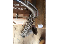 antuiqe alto saxophone silver plated,French.