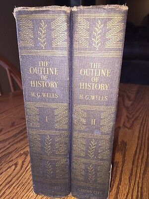The Outline Of History HG Wells 1949 Volume 1 And 2