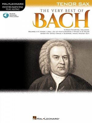 The Very Best of Bach Instrumental Play-Along for Tenor Sax Instrument