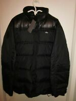 LIMITED EDITION MENS LACOSTE LUXURY DOWN JACKET NYLON LEATHER L