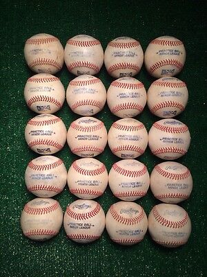 20 Official Rawlings Minor League Baseballs - Practice