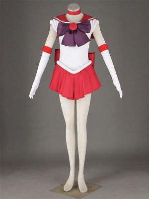 Halloween Sailor mars Red Tsukino Usagi Serena Cosplay  Costume Uniform Dress  - Sailor Mars Halloween Costume