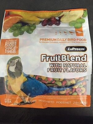 Zupreem FruitBlend Large Macaw cockatoo Bird food Pellet diet Parrot Food 2lb