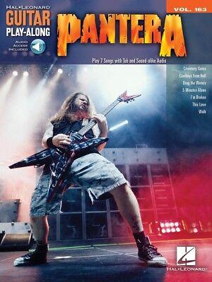 Pantera Sheet Music Guitar Play-Along Vol. 163 Guitar Play-Along Book 000103036