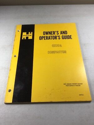 Hyster C330A Compactor Operators Manual