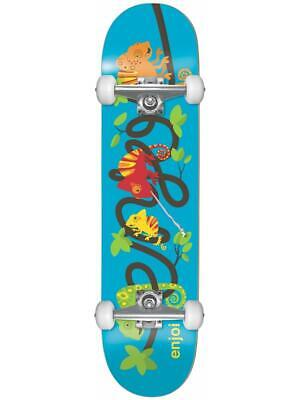"""Enjoi Intertwined 7.25"""" Blue Youth First Push Skateboard Complete - Brand New!"""