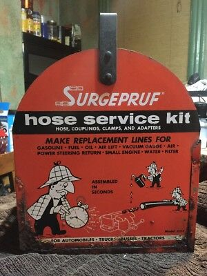 Surgepruf Hose Service Kit Alemite Rare 1960s Hose Gas Station Service Display