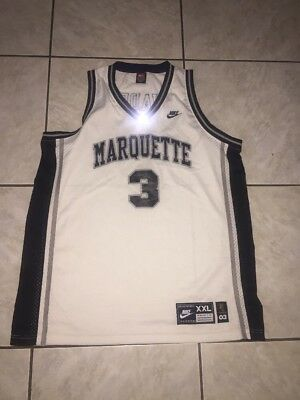(D WADE MARQUETTE White NIKE 03 STITCHED  BASKETBALL JERSEY XXL Mint)
